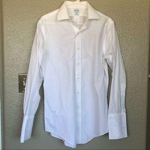 White Slim Fit Brooks Brothers Dress Shirt
